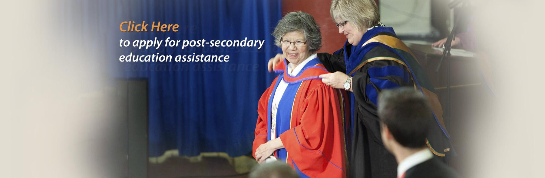 Woman at a graduation ceremony accepting a special honour