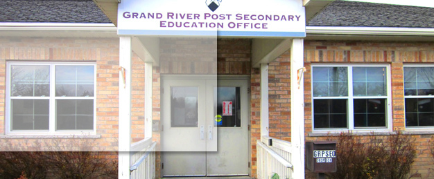 Exterior photograph of the Grand River Post Secondary Education Office